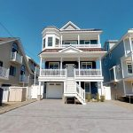 Newly built single-family raised, blue sided home available for rent in South Seaside Park